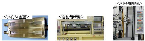 ダンベル片・試験片打抜き・引張り試験機
